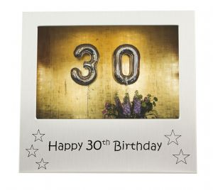 Happy 30th Birthday - Photo Frame Gift - Photo Size 5 x 3.5 Inches (13 x 9 cm)